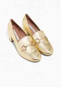 Gold shoes £69